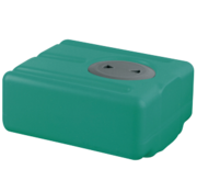 Polyethyleen drinkwatertank  45l  650x390x200mm (H: +30mm vulaansluiting)
