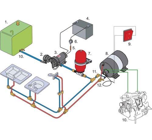 Johnson Pump Thermostatische watermixer voor  & Johnson scheepsboiler  1/2