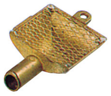 Allpa Messing zuigkorven met RVS filter   Diamter 20mm