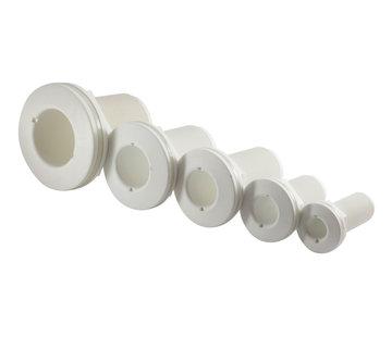 Allpa Kunststof huiddoorvoer  1-1/4  met buitendraad  wit
