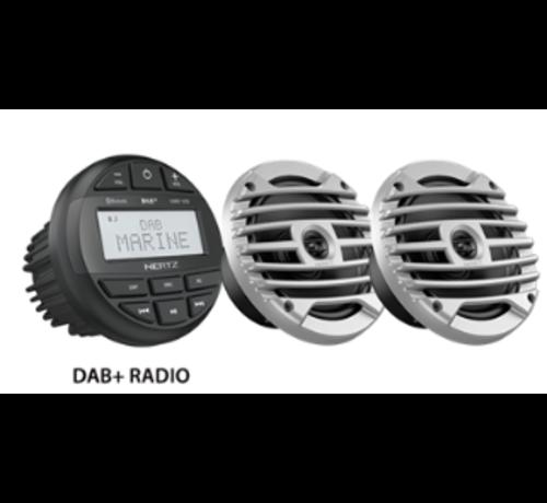 Hertz HMR 10D SET - DMR DAB+ Radio + 2 speakers Zwart