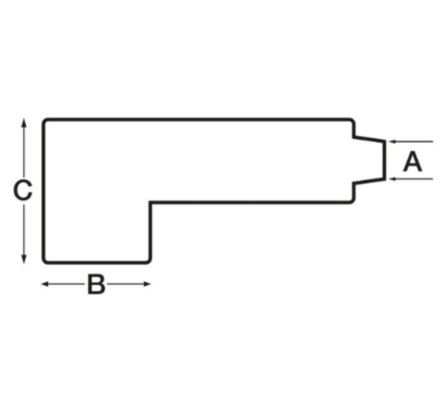 Afdekkap pvc voor kabel terminals 20-26mm zwart