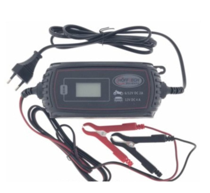 Acculader druppelaar 6V/ 12V 2.0A/ 4.0A
