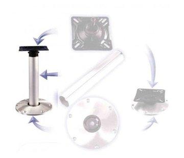 Allpa Stoelpootset Aluminium High-Low met Plug-in Voet