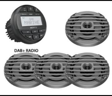 Hertz HMR 10D SET - DMR DAB+ Radio + 4 speakers