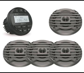 Hertz HMR 10 SET - DMR Radio + 4 speakers