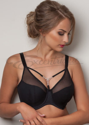 Plaisir - Cloe Bra incl. juwel - Black :