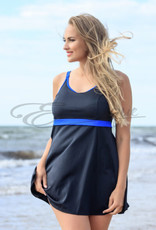 Plaisir - Swimdress - Blue Stripes :