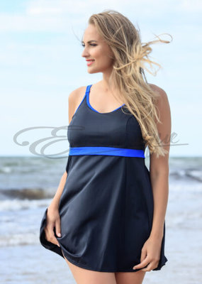 Plaisir - Swimdress - Blue Stripes :