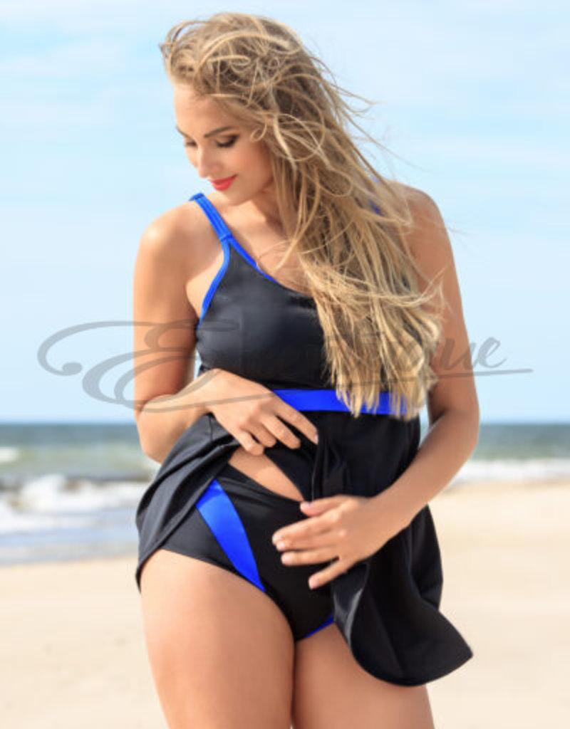 Plaisir - Tankini Top - Blue Stripes :
