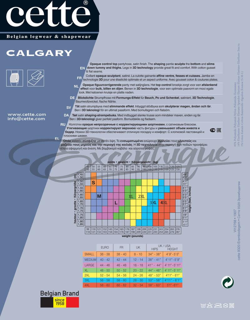 Cette Cette - Figuurcorrigerende Panty Calgary Plus Size - 70D - Zwart