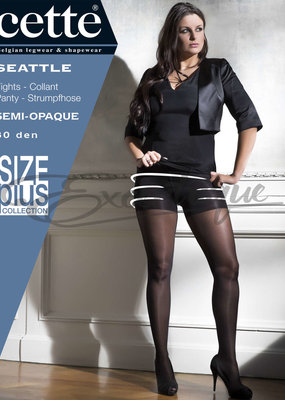 Cette Cette - Panty Seattle Plus Size - 30D - Black