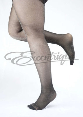 Miss Queen Pamela Mann - Panty All Over Sparkle Curvy - 30D - Black/Silver