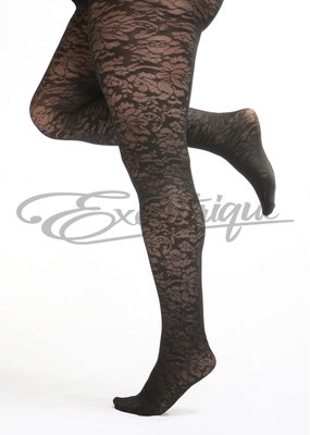 Pamela Mann Pamela Mann - Panty Floral Pattern Curvy - 30D - Black