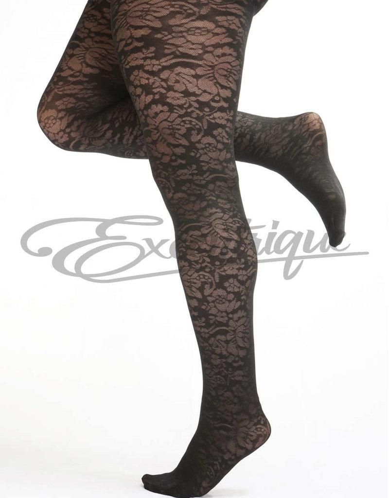 Pamela Mann - Panty Floral Pattern Curvy - 30D - Black