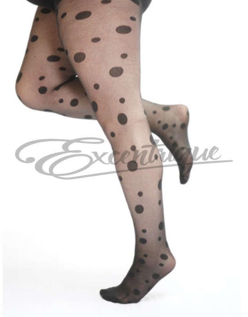 Pamela Mann Pamela Mann - Panty Large Spot Pattern Curvy  - 30D - Black