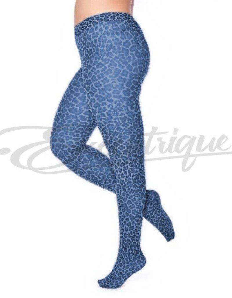 Pamela Mann Pamela Mann - Panty Leopard Pattern Curvy - 50D - Denim Blue :