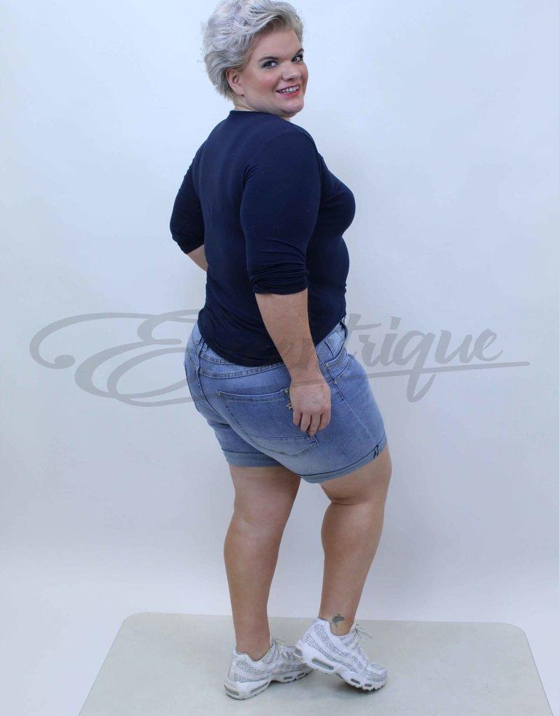 "Karostar Karostar - Jeans Short ""KS9140"" - Light Denim :"