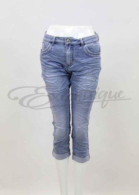"""Jewelly - Jeans 3/4 """"JW6332"""" - Denim :"""
