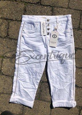 "Karostar Karostar - Jeans 3/4 ""KC991"" - Wit :"