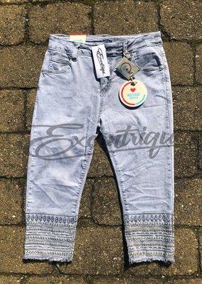 """Mozzaar Forever - Jeans 3/4 """"PC11043"""" - Grey Denim :"""