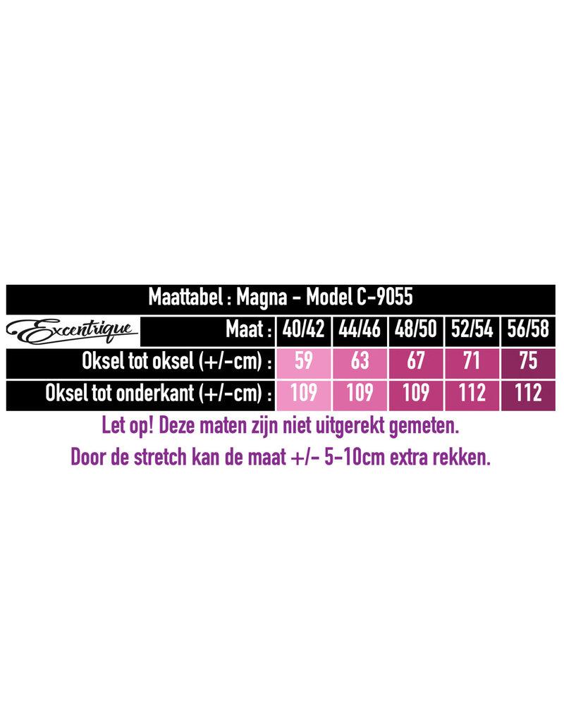 """Magna - Lange Jurk """"C-9055"""" - Wit Bladeren :"""