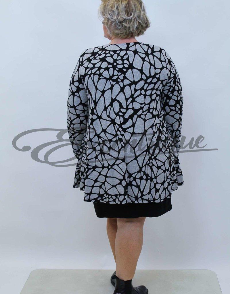 New Jersey - Vest +Size - Zwart LichtGrijs :
