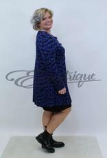 New Jersey - Vest +Size - Kobalt Zwarte Veeg  :