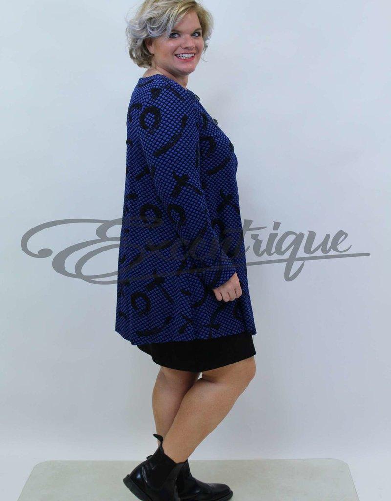 New Jersey - Vest +Size - BijenGraat Kobalt/Zwart :