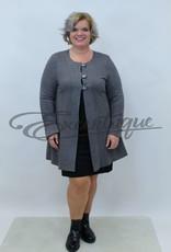 New Jersey - Vest +Size - Grijs Rood :