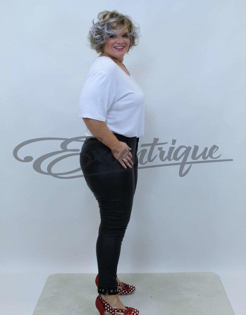 I Dodo - Jeans - Leatherlook Black  :