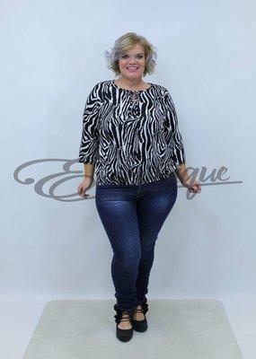 New Jersey - Shirt - Zwart Wit Zebra :