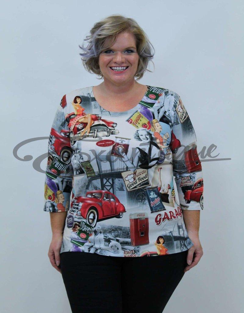 New Jersey - Shirt met Mouwtje - lady's 50 Jaren :