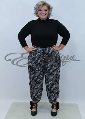 New Jersey - Pantalon - Grijs Zwart Steenmotief :