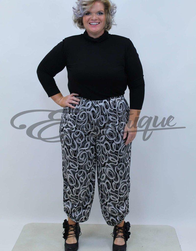 New Jersey - Pantalon - Zwart Grijs Kringels :