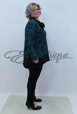 New Jersey - Pullover - Indigo Zwart Wafel Motief :