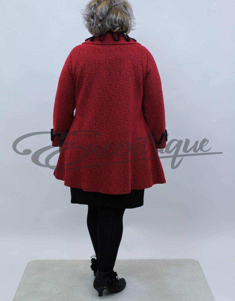 New Jersey - Mantel - Rood Zwart Spikkel :