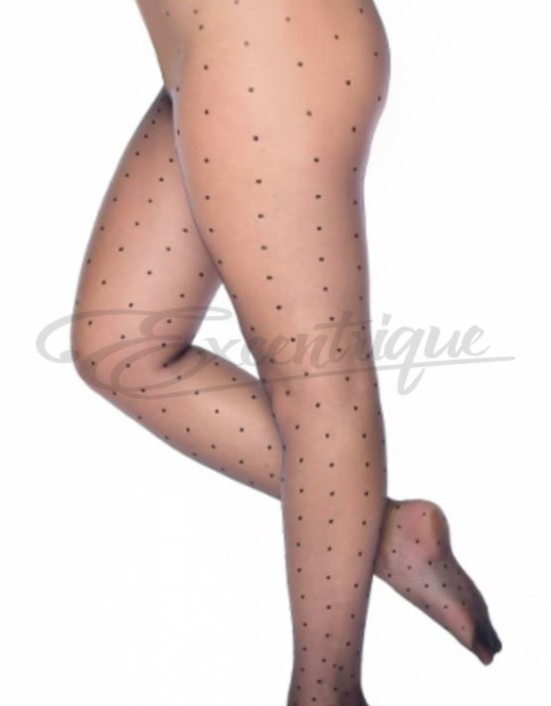 Pamela Mann Pamela Mann - Panty Sheer Luxury - 20D - Gloss Black Dots :