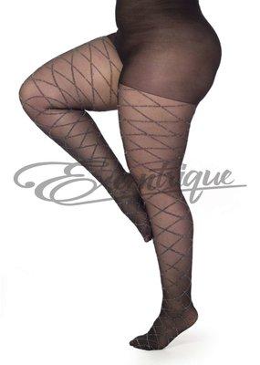 Pamela Mann Pamela Mann - Panty Argyle Glitter - Black/Silver :