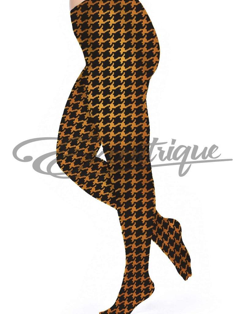 Pamela Mann Pamela Mann - Panty Dogtooth Printed Curvy - 50D - Cognac Black :