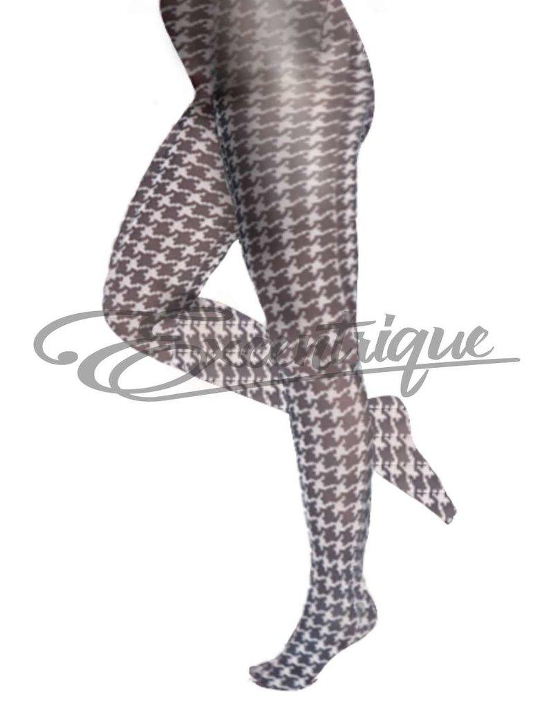 Pamela Mann Pamela Mann - Panty Dogtooth Printed Curvy - 50D - Black White :