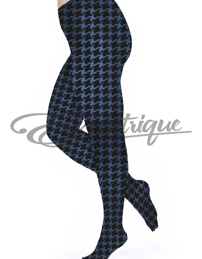 Pamela Mann Pamela Mann - Panty Dogtooth Printed Curvy - 50D - DenimB Black :