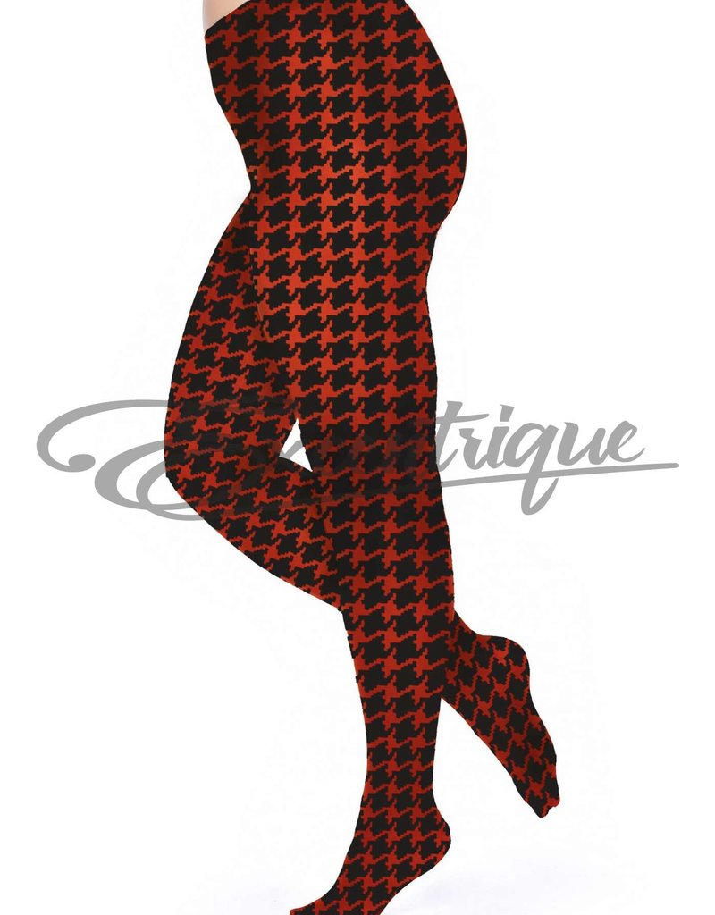 Pamela Mann Pamela Mann - Panty Dogtooth Printed Curvy - 50D - FloRed Black :
