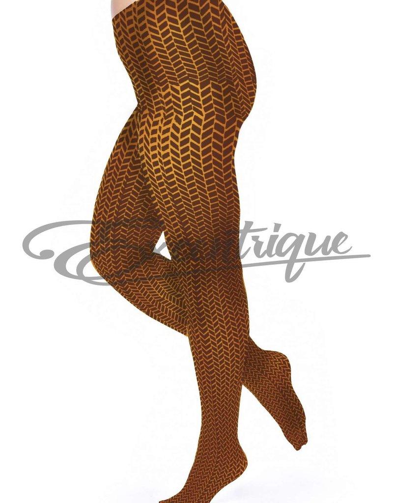 Pamela Mann Pamela Mann - Panty Herringbone Printed Curvy - 50D - Cognac Chocolate :