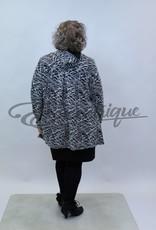 New Jersey - Vest met capuchon - Zwart Wit Streep :