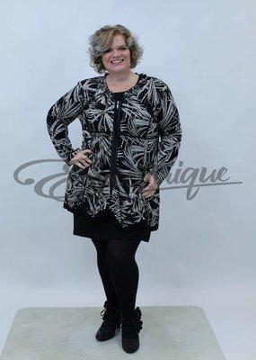 New Jersey - Vest +Size  - Zwart Bruin Bamboo :