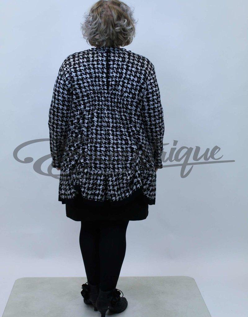 New Jersey - Vest +Size  - PiedDePoule Zwart / Grijs :