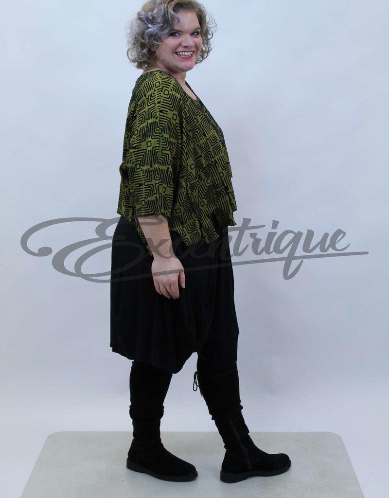 New Jersey - Pullover - Oker Zwart Patroon :