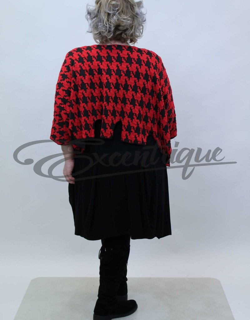 New Jersey - Pullover - Zwart Rood PiedDePoule :
