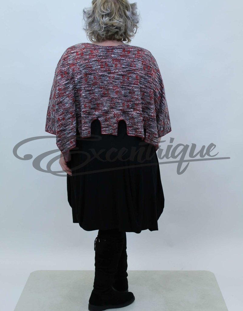 New Jersey - Pullover - Rood Grijs Taupe Wit Streep :